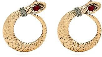 Etro Crystal Embellished Snake Earrings - Womens - Gold