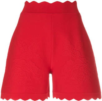 Alexander McQueen scalloped hem shorts