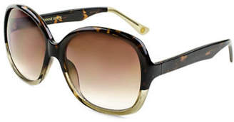 EDIT BY JEANNE BEKER Valentina Oversized Tortoise-Look 56mm Sunglasses