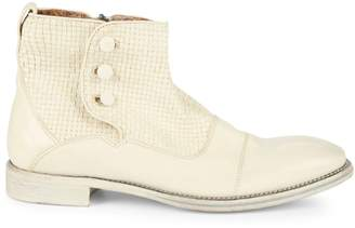 John Varvatos Fleetwood Leather Ankle Boots