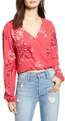 Leith Faux Wrap Top