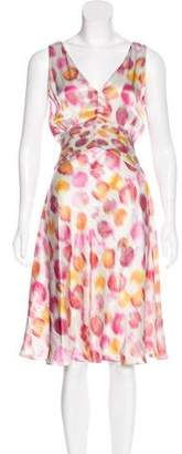 Rochas Silk Printed Dress w/ Tags