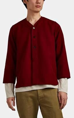 Visvim Men's Wool-Linen Baseball Shirt - Red