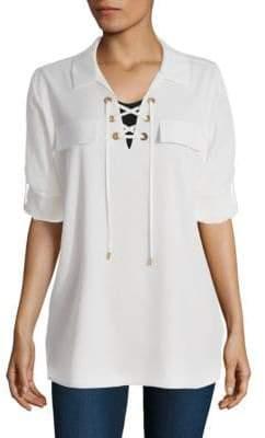 Calvin Klein Lace-Up Blouse