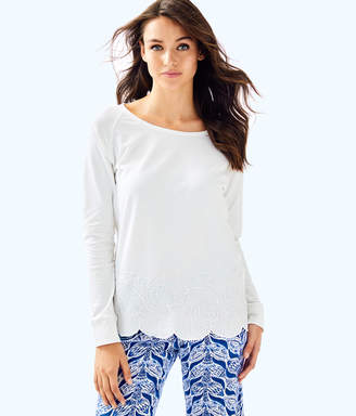 Lilly Pulitzer Sandy Embroidery Popover