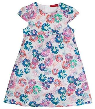 Salt&Pepper Salt and Pepper Girl's Bunte Blumen Schleife Dress,18-24 Months