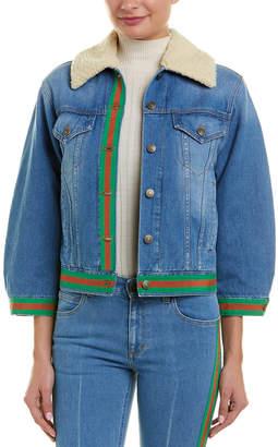 Gucci Silk-Lined Denim Jacket