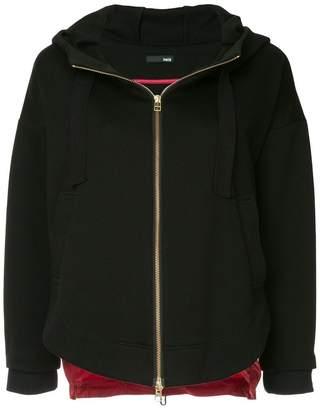Frei Ea two-tone zipped hoodie