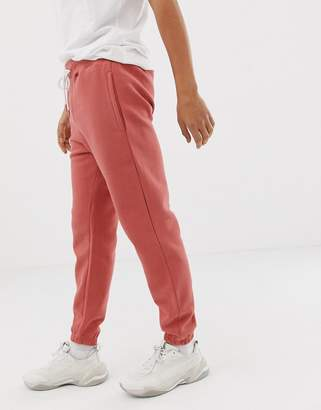 Pull&Bear slim fit jogger co-ord in pink