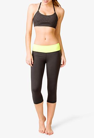 Forever 21 Contrast Trim Skinny Workout Capris