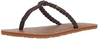 Volcom Women's Fishtail Braided T-Strap Flat Sandal