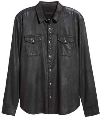 John Varvatos Coated Denim Shirt