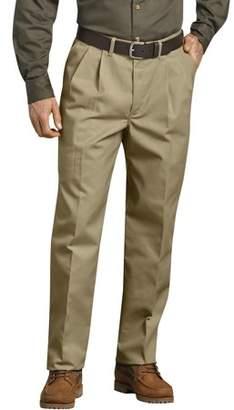 Dickies Genuine Men's Pleated Comfort-Waist Work Pants