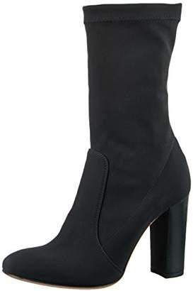 Oxitaly Women's Roxy 238C Calf-Length Boots Black Size: 6.5