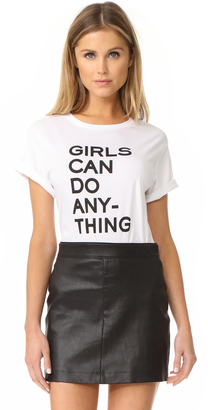 Zadig & Voltaire Girls Can Do Anything Tee $98 thestylecure.com