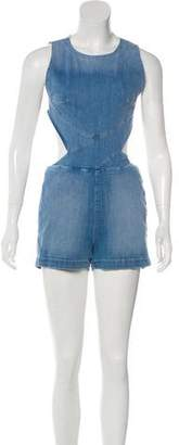 3x1 NYC Sleeveless Denim Romper
