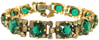 One Kings Lane Vintage Eisenberg Emerald Sterling Bracelet