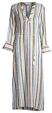 Splendid Women's Playa Striped Linen-Blend Maxi Dress
