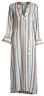 Splendid Women's X Gray Malin Playa Striped Linen-Blend Maxi Dress