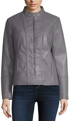 A.N.A Pu Moto Jacket Midweight Motorcycle Jacket