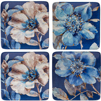 Certified International Indigold Flower Dessert Plates, Set of 4