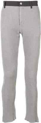 Facetasm stretch cotton trousers