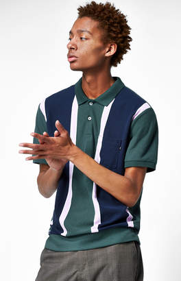 Obey Watermark Striped Polo Shirt