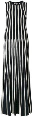 N.Peal cashmere Contrast stripe maxi dress