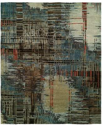 Natori Dynasty- Abstract Plaid Rug