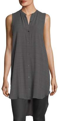 Eileen Fisher Sleeveless Plaid Tunic