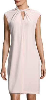 Karl Lagerfeld Paris Stretch-Velvet Mock-Neck Dress