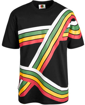 Lrg Men's Rainbow Stripe Knit T-Shirt