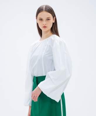 Calvin Klein (カルバン クライン) - CK CALVIN KLEIN WOMEN 【2018AW COLLECTION】クールポプリン ブラウス(C)FDB