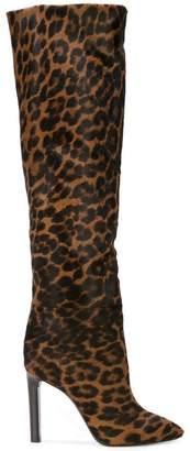 Saint Laurent leopard print boots