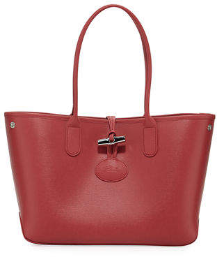 Longchamp Roseau Small Leather Shoulder Tote Bag