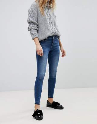 JDY dark wash skinny jeans in blue