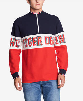 Tommy Hilfiger Men's Half-Zip Graphic Sweater