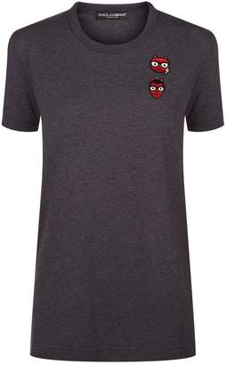 Dolce & Gabbana Family Embroidered T-Shirt
