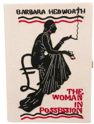 Olympia Le-Tan The Woman in Possession Book Clutch Tan The Woman in Possession Book Clutch