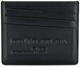 Maison Margiela logo embossed cardholder