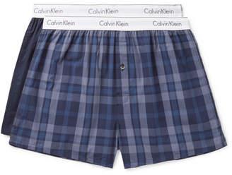 Calvin Klein Underwear Two-Pack Cotton Boxer Shorts - Men - Blue