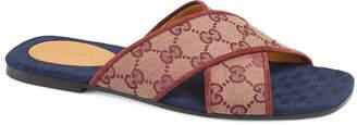 Gucci Senior GG Canvas Slide Sandal
