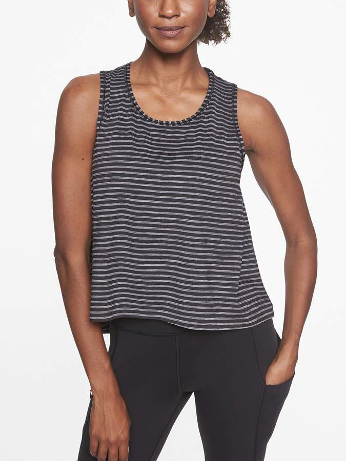 Athleta Chi Striped Muscle Tank