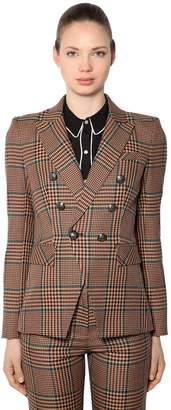 Veronica Beard Miller Wool Blend Prince Of Wales Blazer