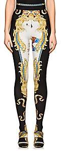 Versace Women's Graphic Footed Leggings - White