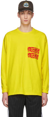 Some Ware SSENSE Exclusive Yellow Long Sleeve Logo T-Shirt
