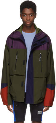 Martine Rose Green and Purple Colorblock Raincoat