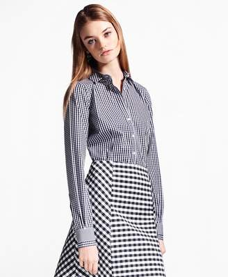Brooks Brothers Non-Iron Tailored-Fit Gingham Stretch Cotton Fun Shirt