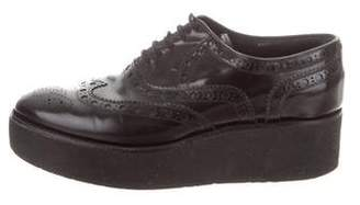 Louis Vuitton Leather Platform Oxfords