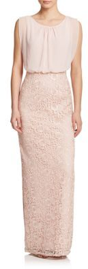 Aidan Mattox Lace & Chiffon Bridesmaid Gown $255 thestylecure.com